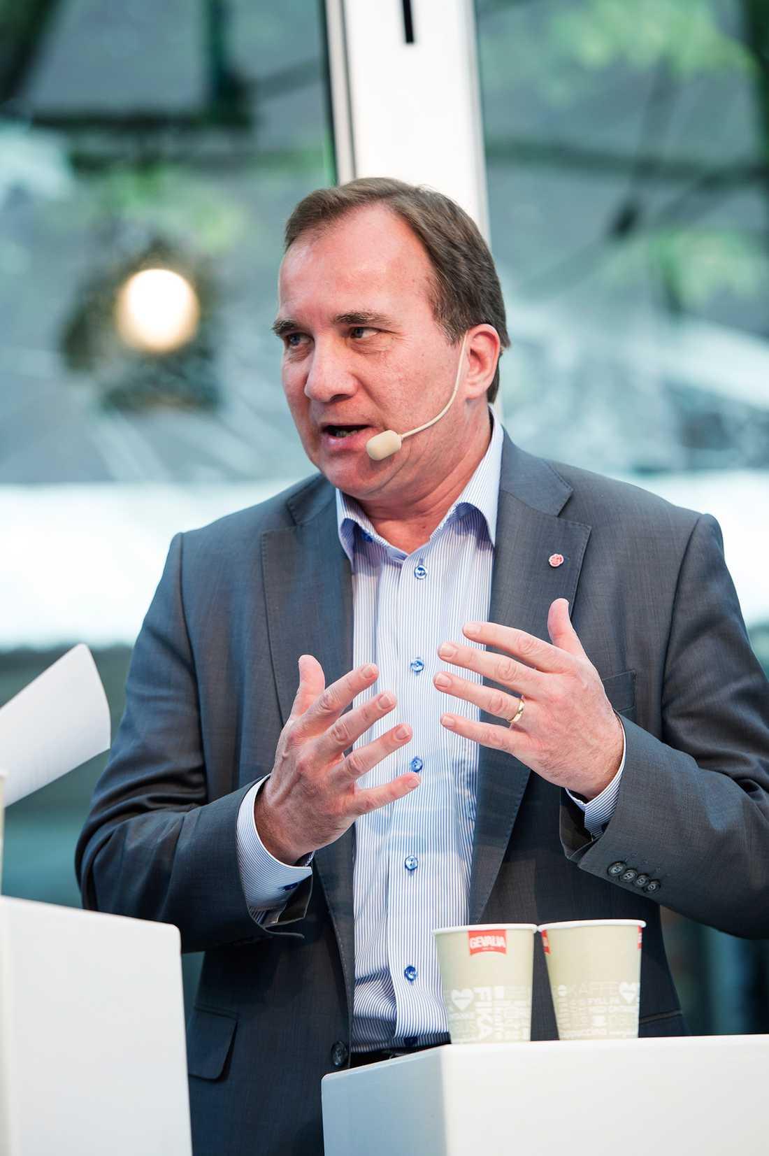 """Stefan Löfven (S) """"Får inte vänstersidan egen majoritet i riksdagen kan Alliansen plus SD i princip blockera Löfven"""""""