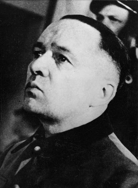 Rudolf Höss var kommendant i lägret. Han dömdes till döden i Nürnbergrättegången.