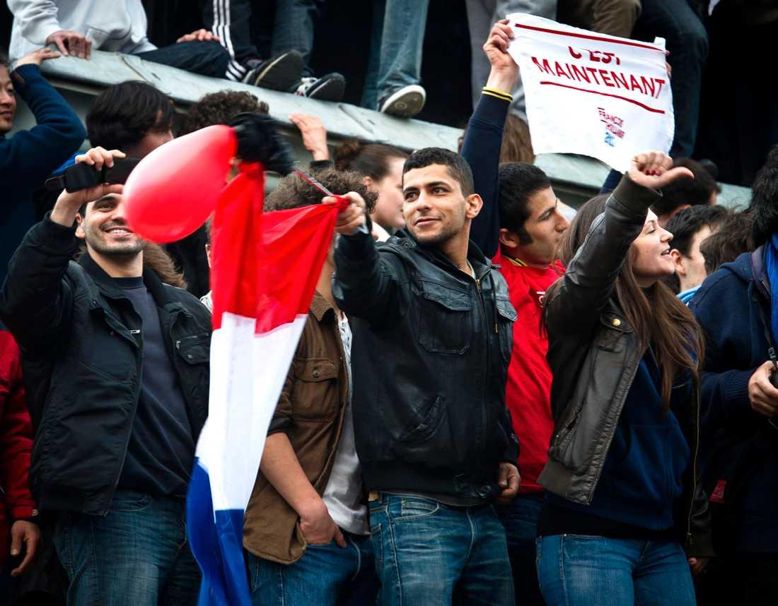 Hollandes anhängare visste inga gränser och jublade över segerresultatet.
