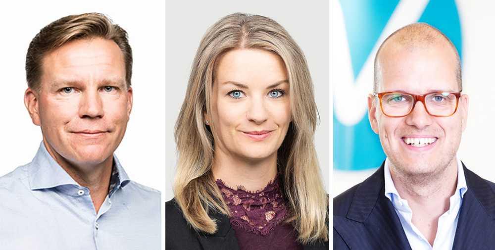 Jens Magnusson, Maria Landeborn och Joakim Bornold.