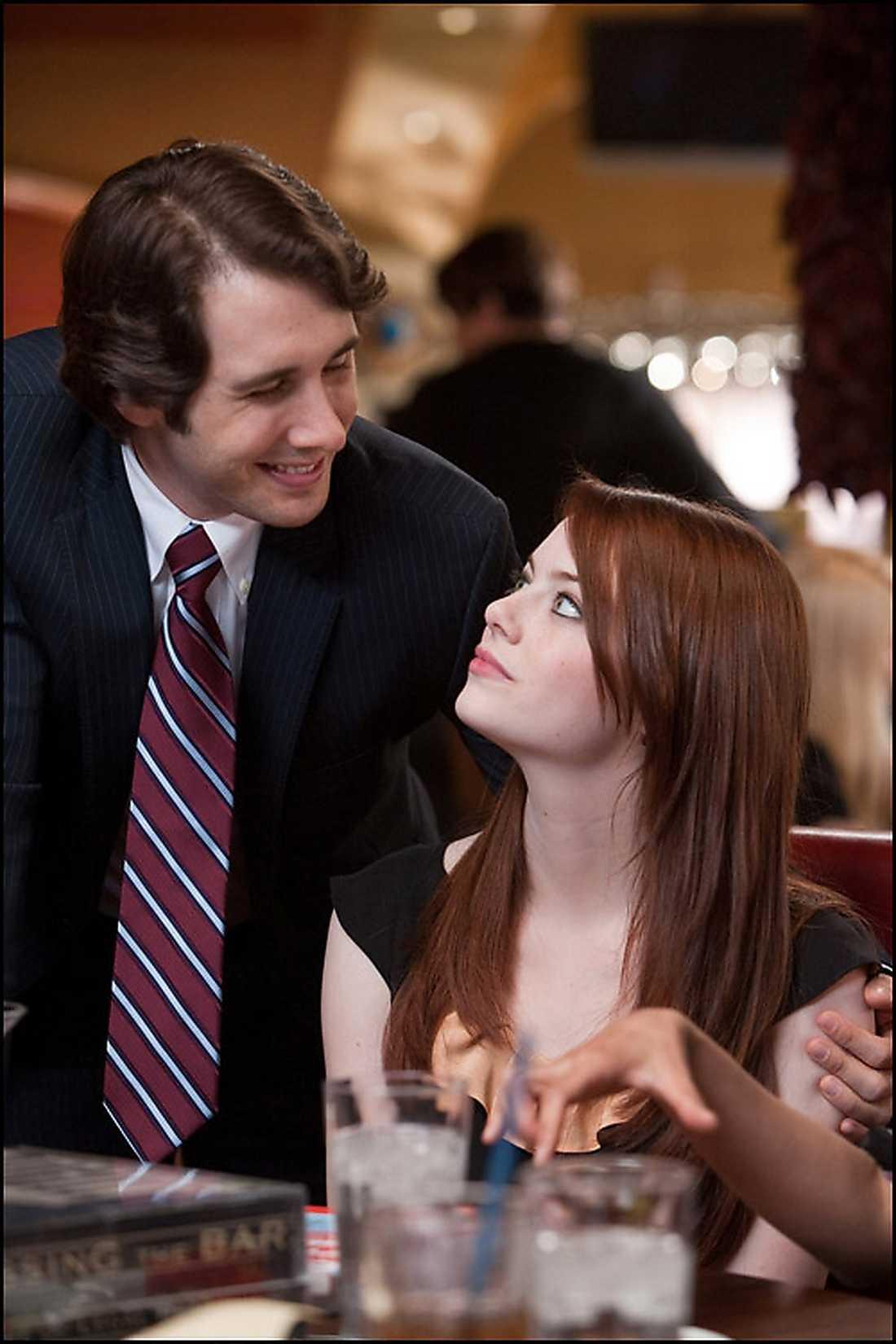"""Emma Stone med Josh Groban i """"Crazy, stupid, love""""."""