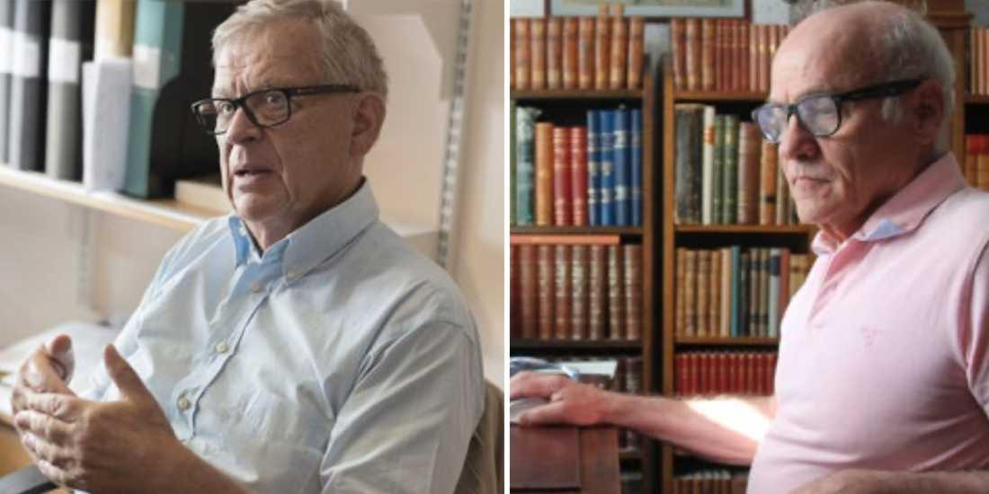 Bengt Winblad och Anders Wimo pekar på att nästan varannan äldreplats är borta.