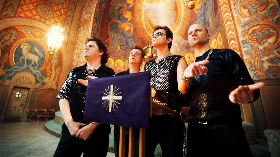 Black Ingvars 1999. Från vänster Niels Nordin, Henrik Ohlin, Anders Möller och Magnus Tengby.