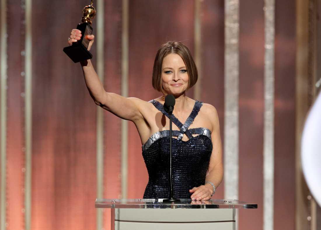 Prisad Jodie Fosters tal hyllades av kollegorna på plats. Men kritiker har också ifrågasatt talet och kallat det vagt.