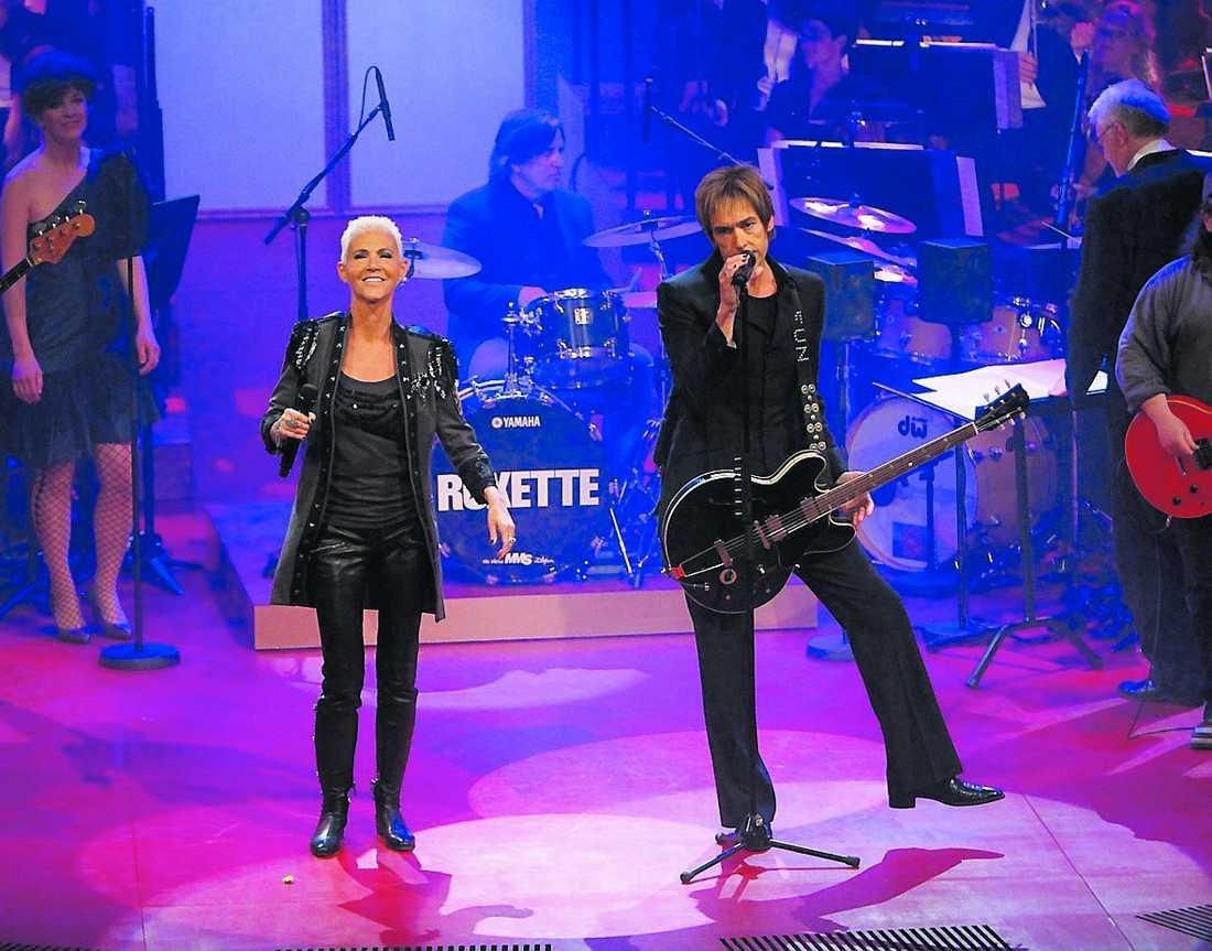 Roxette återförenades på scen i går.