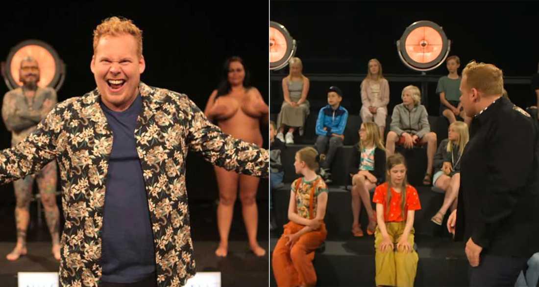 """""""Ultra smider tøjet"""" med programledaren Jannik Schow."""