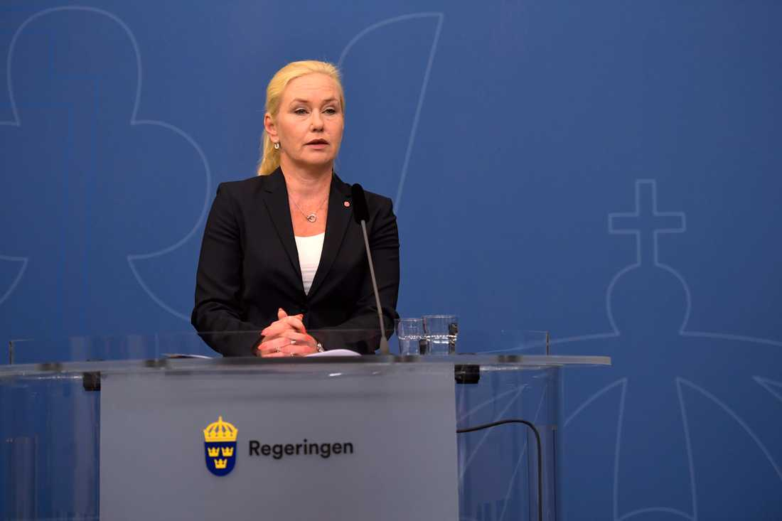 Infrastrukturminister Anna Johansson.