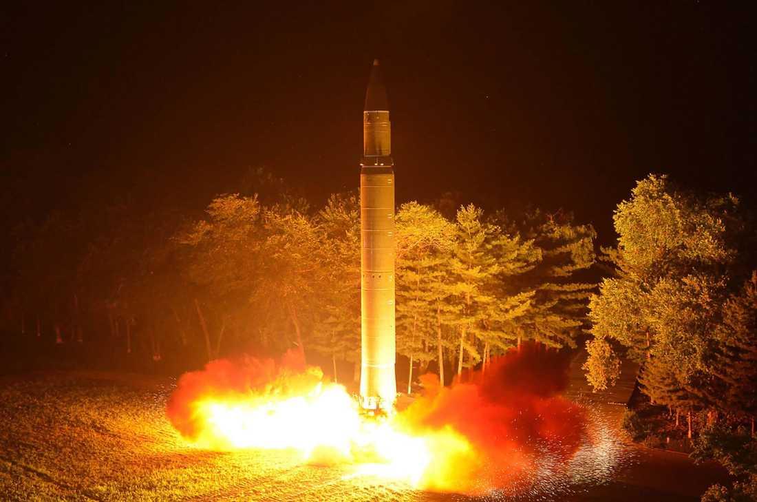Missil från Nordkorea, arkivbild.