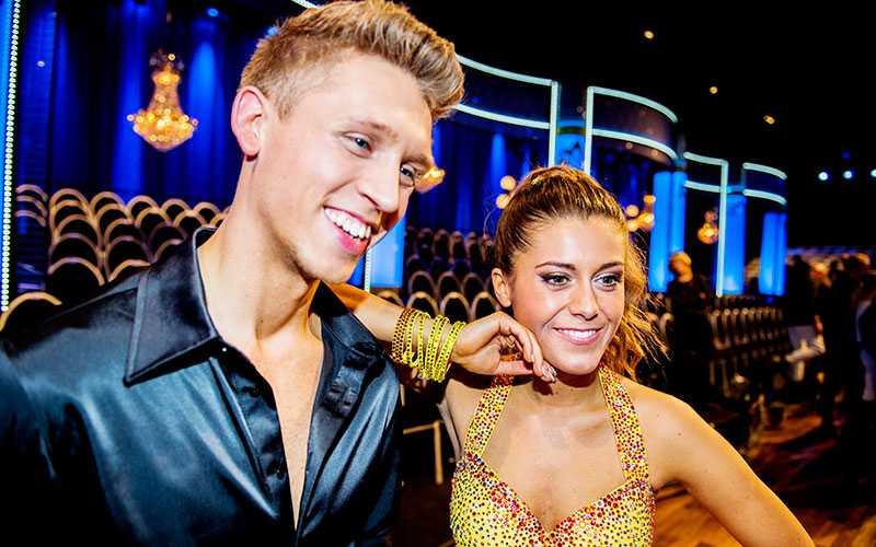 Bloggaren Bianca Ingrosso med dansaren Alexander Svanberg.