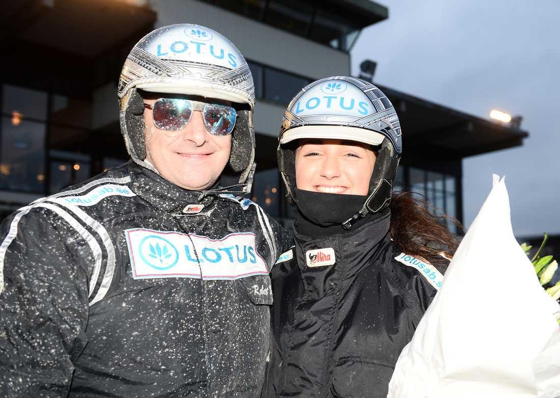 Robert Bergh med dottern Isabelle Bergh, skötare till Muscle Hustle