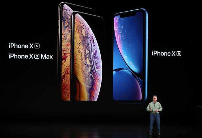 Här är de tre nya modellerna –  Iphone Xs, Xs Max och den lite billigare Iphone Xr.