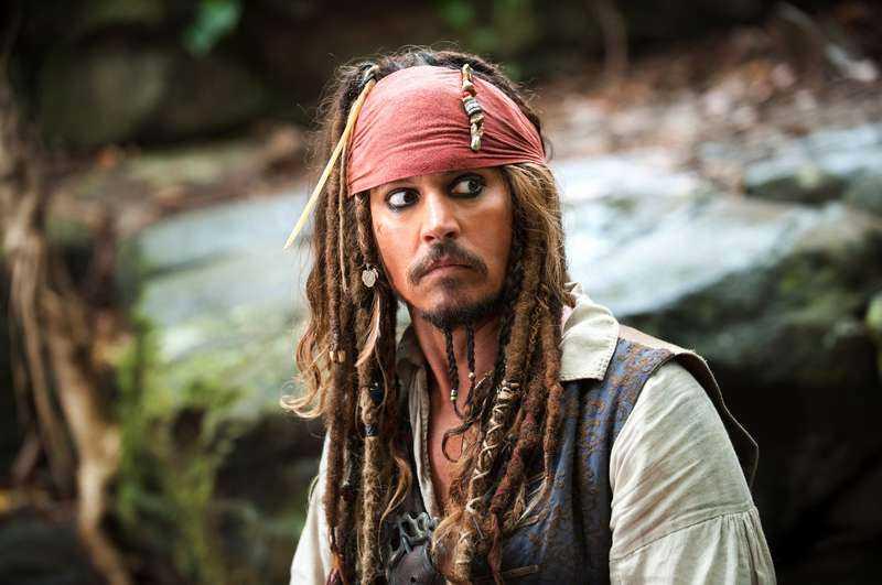 "Johnny Depp i ""Pirates of Carribean""."