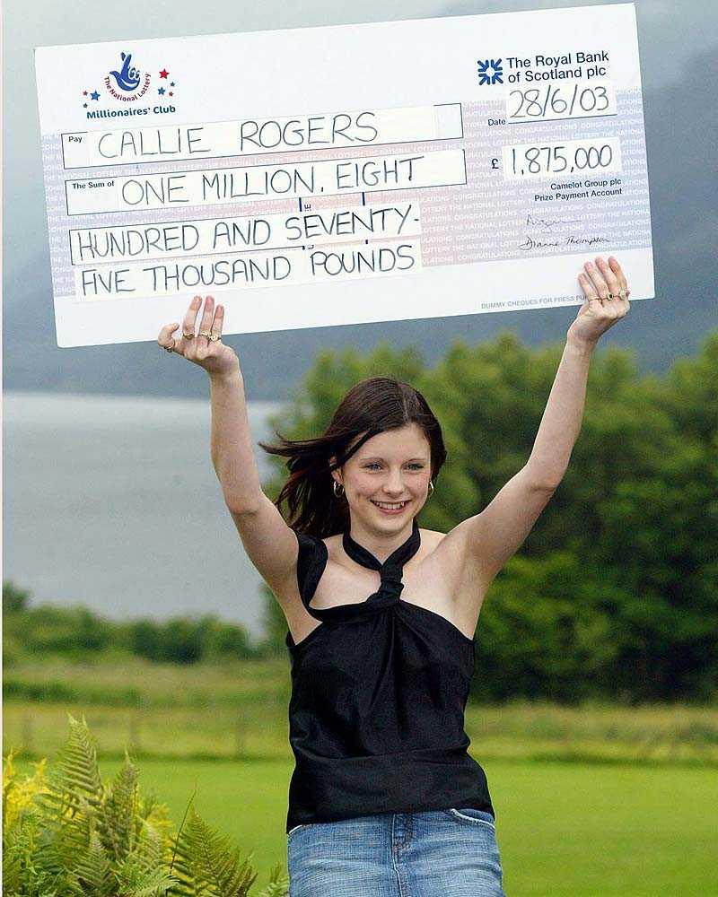 Här börjar helvetet År 2003 vann Callie Rogers, då 16 år gammal, 21 miljoner kronor på Lotto. I dag arbetar hon som städerska och är utfattig.