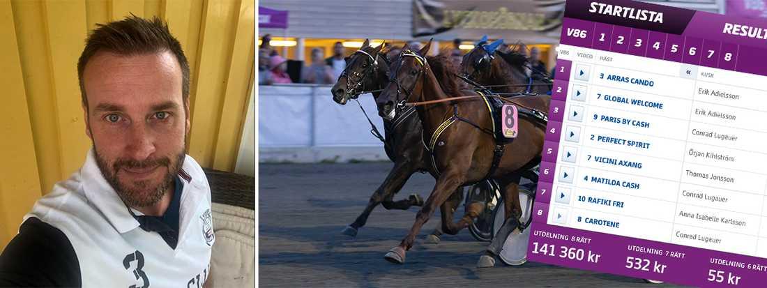Carotene var en av hästarna på Johan Karlssons system.