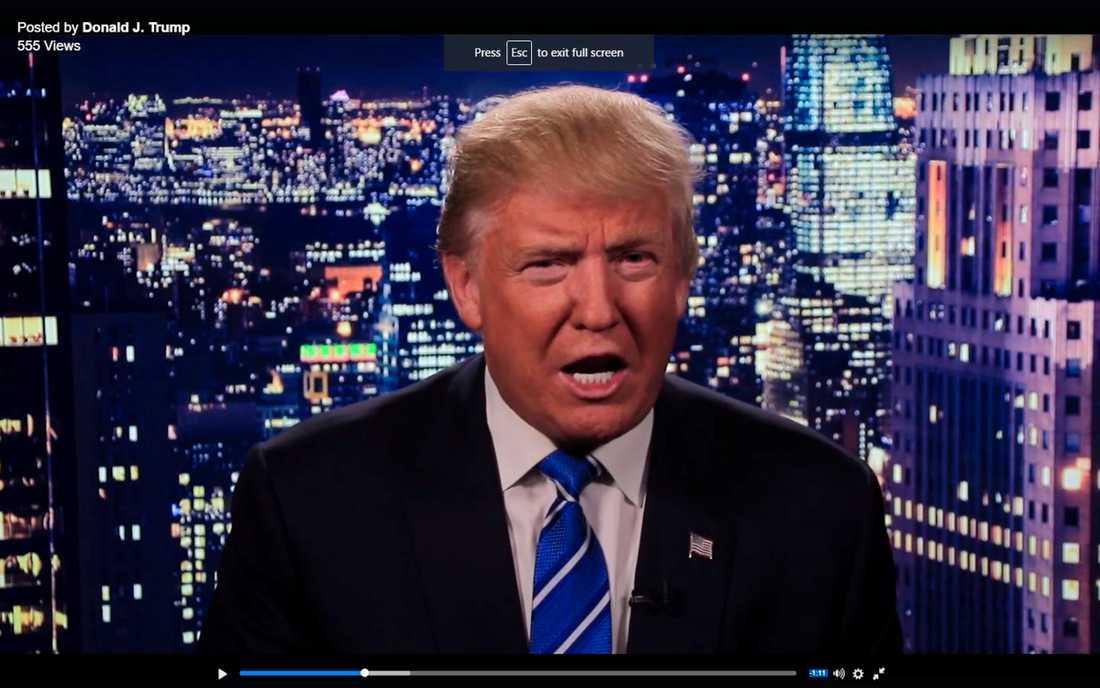 Donald Trump ber om ursäkt.