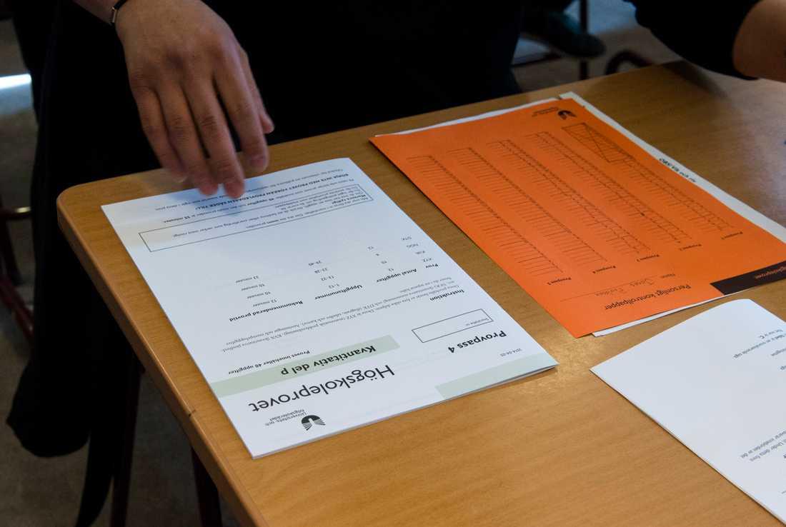 Ännu fler som fuskat på högskoleprovet kan inte längre använda sig av resultatet. Arkivbild.