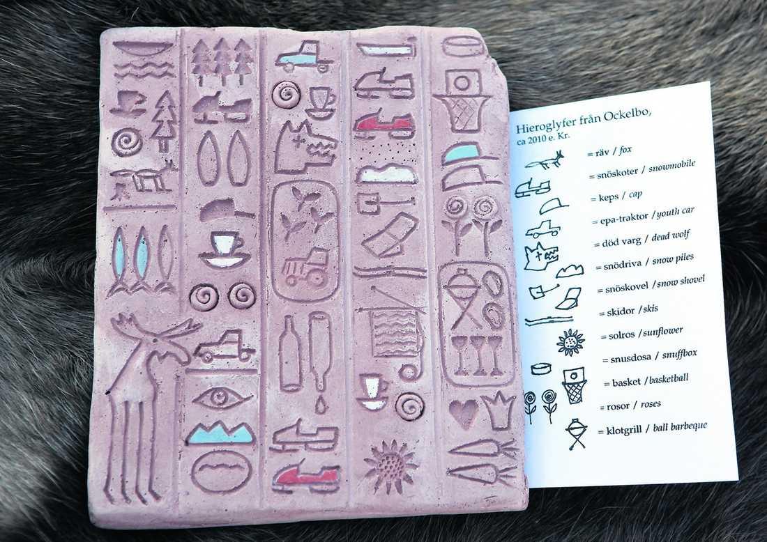Hieroglyfer från Ockelbolivet.
