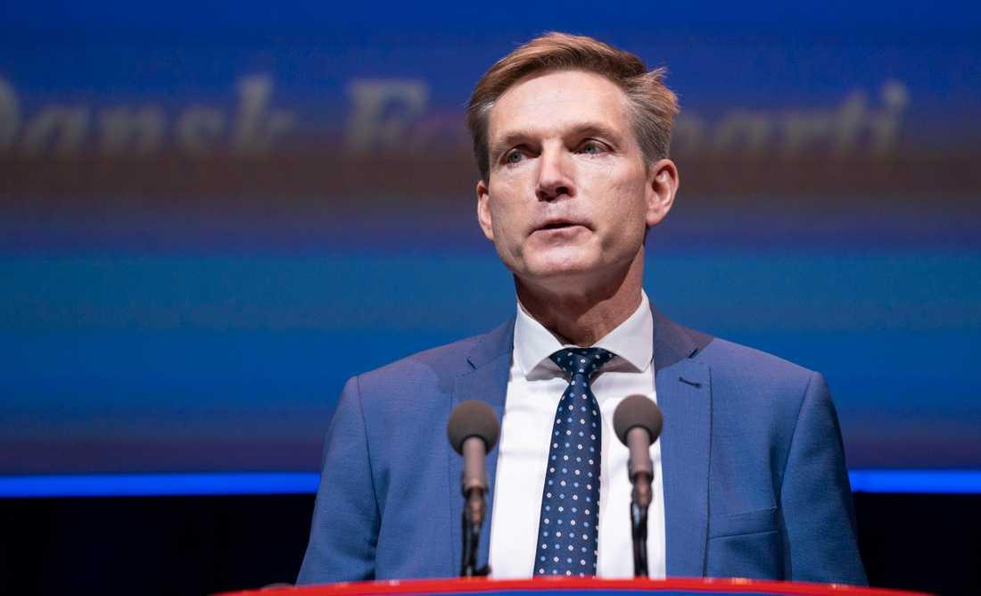 Dansk Folkepartis ledare Kristian Thulesen Dahl nämnde inte det sviktande stödet när han talade på partiets årsmöte i Odense på lördagen.