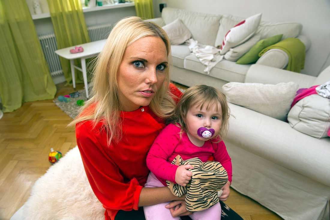 Monica Vial med dottern Smilla.