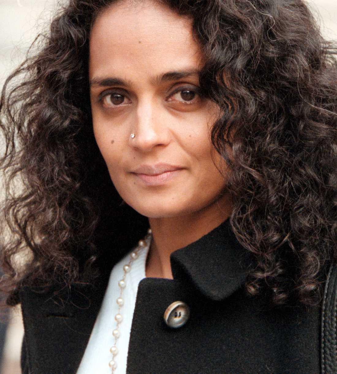 Författarinnan Arundhati Roy.