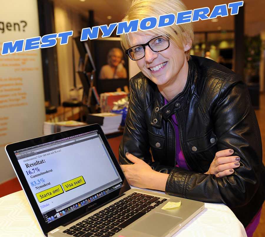 Elisabeth Svantesson 83,3 procent nymoderat, 16,7 procent gammelmoderat.