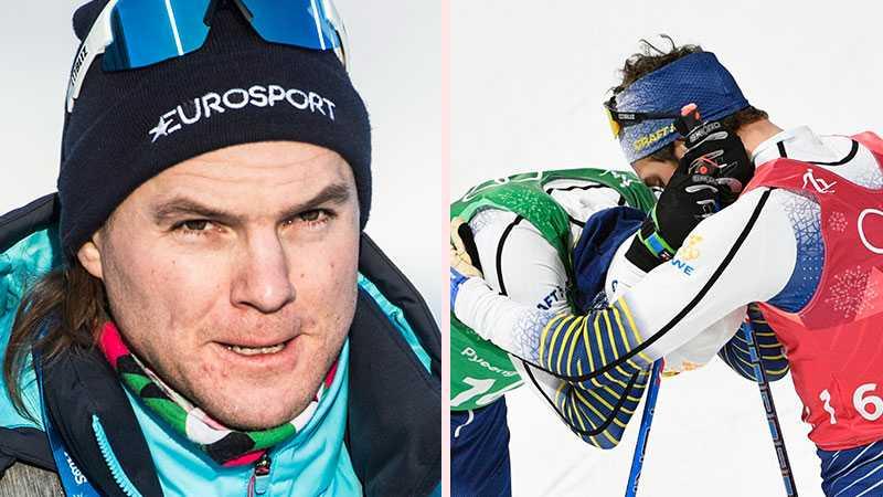 Robin Bryntesson och svenska laget i sprintstafett.