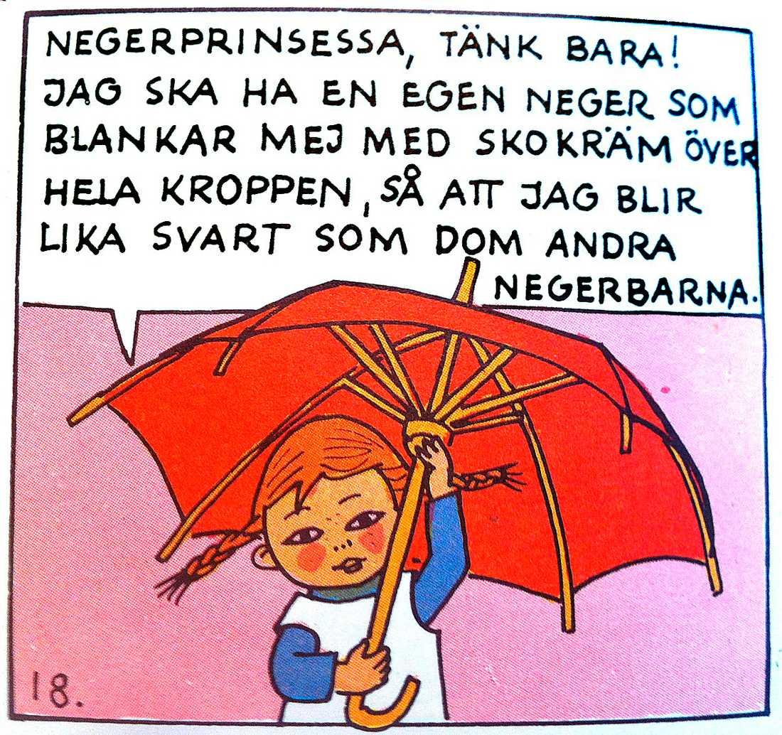 """Ur serieversionen av """"Pippi går till sjöss"""", 1971."""