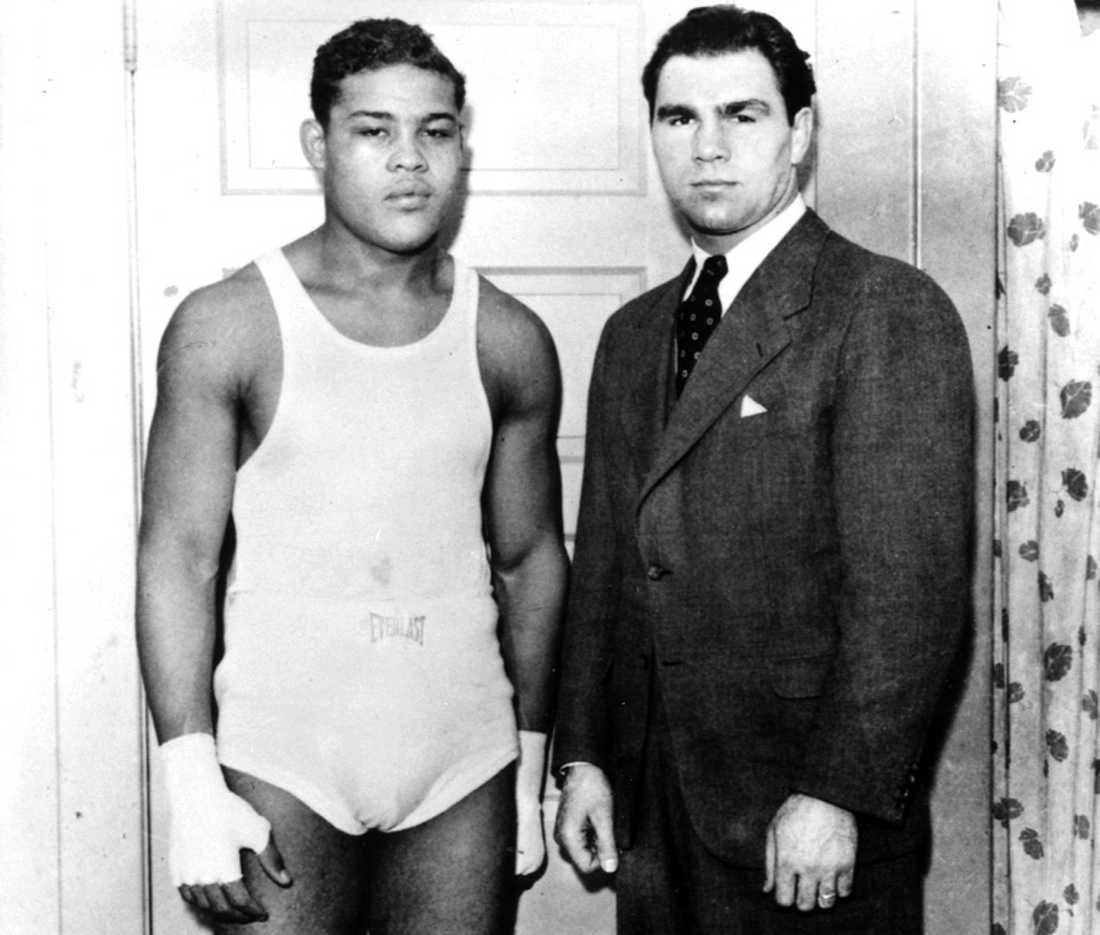 Joe Louis (1914-1981) och tysken Max Schmeling (1905-2005) möttes två gånger. Den första matchen i juni 1936 förlorade Louis – den andra, två år senare, vann han på knock i första ronden. Louis höll tungviktstiteln i nästan tolv år, 1937-49 – rekord ännu i dag.
