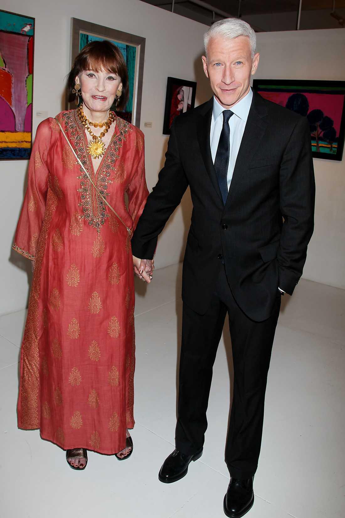 Gloria Vanderbilt och sonen Anderson Cooper.