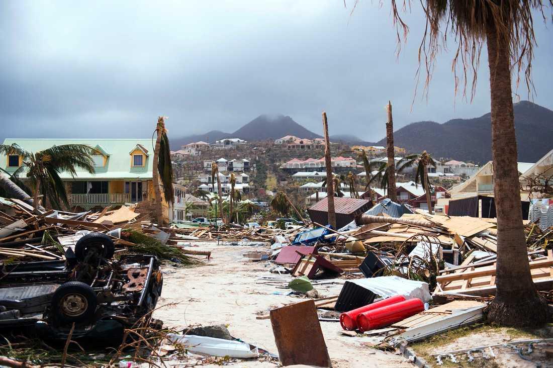 Saint Martin efter Irma.