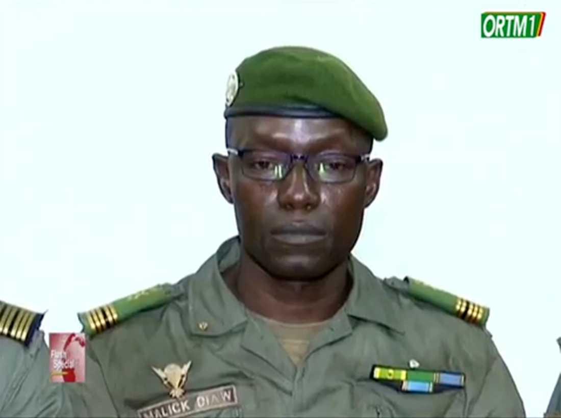 Malick Diaw, en av medlemmarna i militärjuntan som tog makten i Mali i augusti, har utsetts att leda landets nationella övergångsråd. Arkivbild