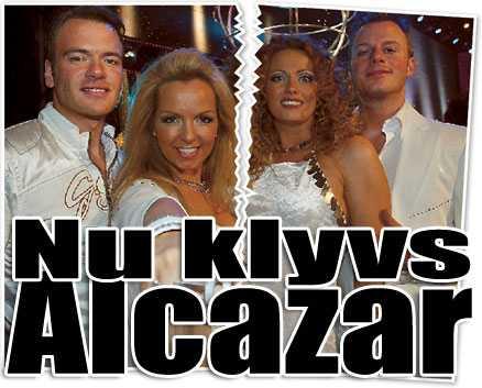 återförenas - delvis Andreas Lundstedt och Tess Merkel (till vänster) ska spela som Alcazar i London. Men Magnus Carlsson och Annikafiore Kjaergaard får inte vara med.
