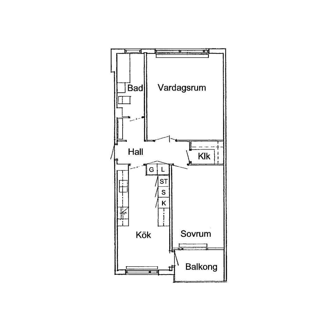 Här är planskissen över lägenheten där barnen suttit inspärrade.