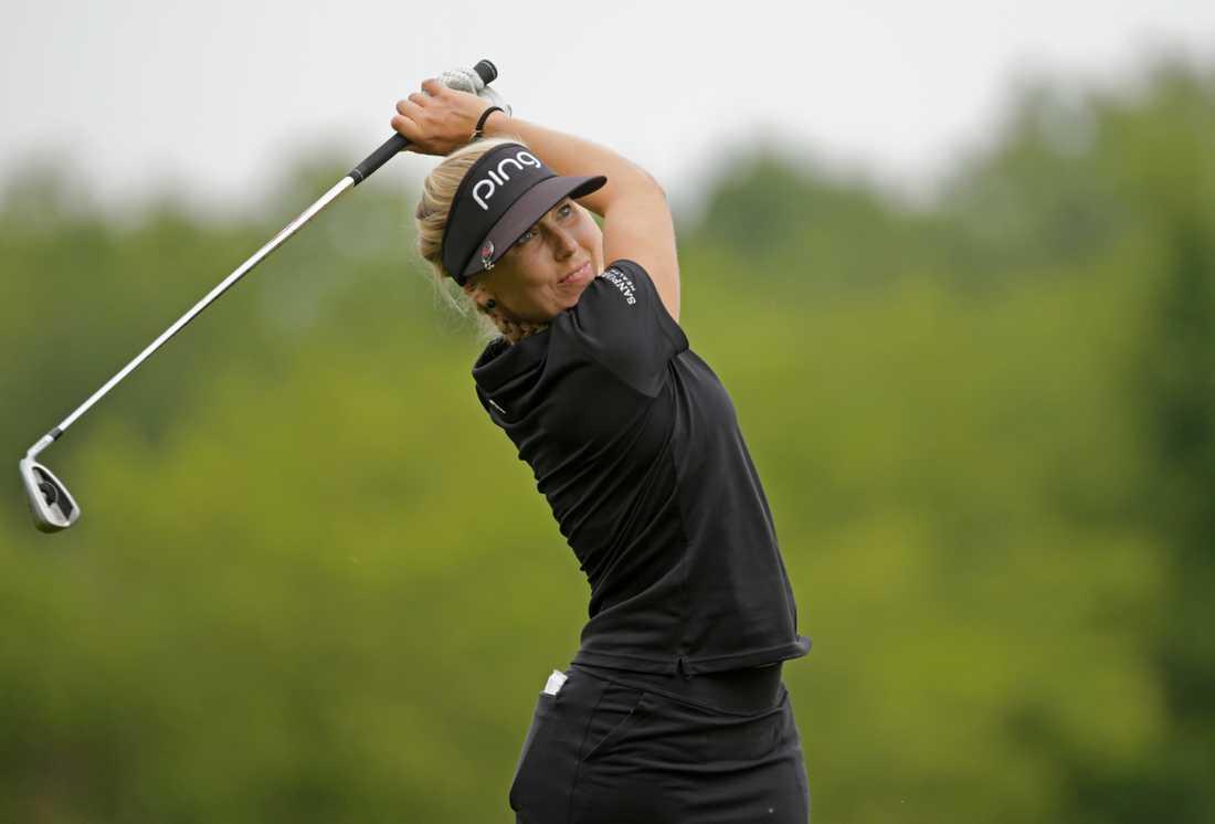 Elin Arvidsson är en av flera USA-baserade svenska golfspelare som inte vet när nästa tävling blir av. Arkivbild.