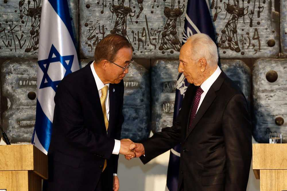 De diplomatiska försöken för att få ett slut på konflikten fortsätter. FN:s generalsekreterare Ban Ki-moon träffar Israels president Shimon Peres...