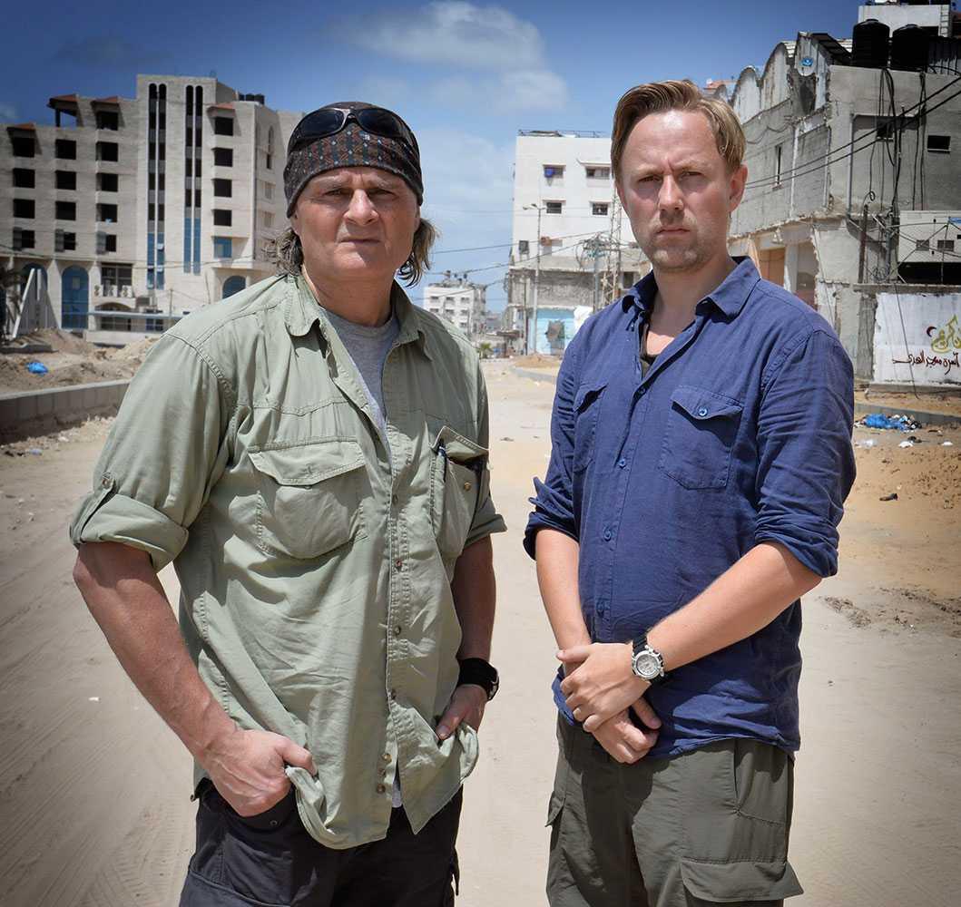VG:s fotograf Harald Henden och reporter Rune Thomas Ege på plats i Gaza.