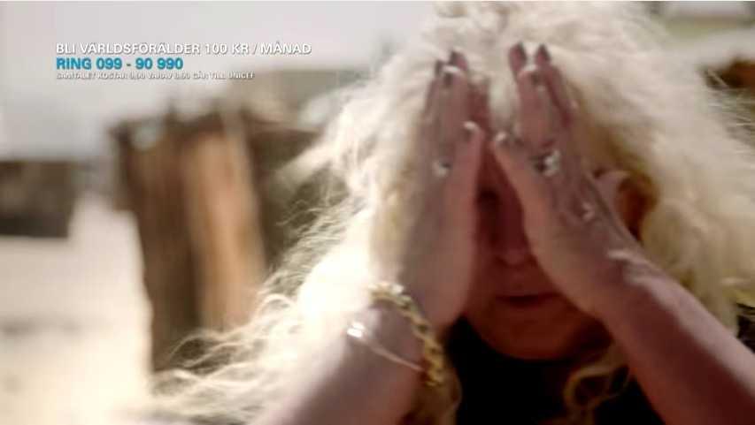 Mia Parnevik kunde inte hålla tillbaka tårarna.