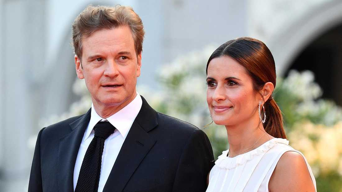 Colin Firth och Livia Giuggioli.