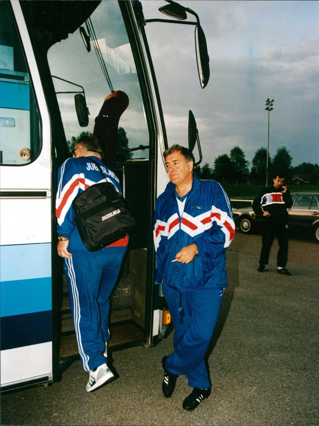 Jugoslaviens landslag tränade i Leksand inför EM när de fick beskedet.