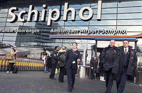 Amsterdams flygplats. FOTO: SCANPIX