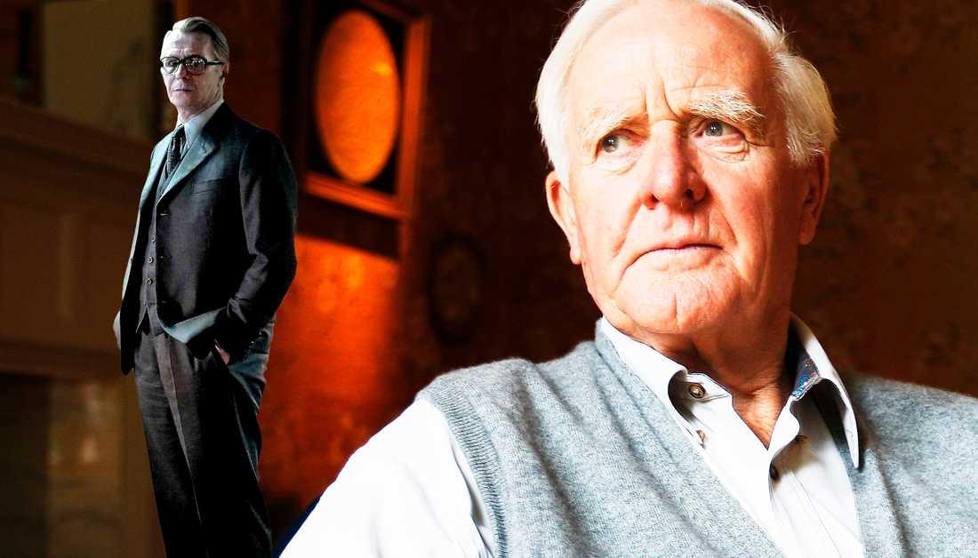 """John le Carré (född 1931) slog igenom med """"Spionen som kom in från kylan"""" 1963. I """"Spionernas arv"""" fortsätter han att nysta i klassikerns historia. Till vänster Gary Oldman som """"Smiley"""" i Daniel Alfredsons """"Tinker, tailor, soldier, spy"""" från 2011."""