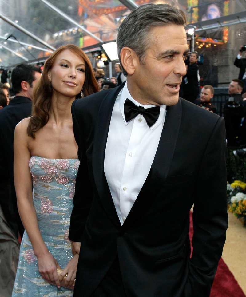 GEORGE CLOONEY & SARAH LARSONFrån Oscar till uppbrott: 3 månader. Den evige ungkarlen bröt mot sina egna regler när han för första gången tog med sig en flickvän till Oscarsgalan 2008, när Clooney var nominerad för rollen som Michael Clayton.I maj återgick dock Clooney till att gå singel på galorna på heltid, när han dumpade svenskättade servitrisen Sarah Larson från Las Vegas.