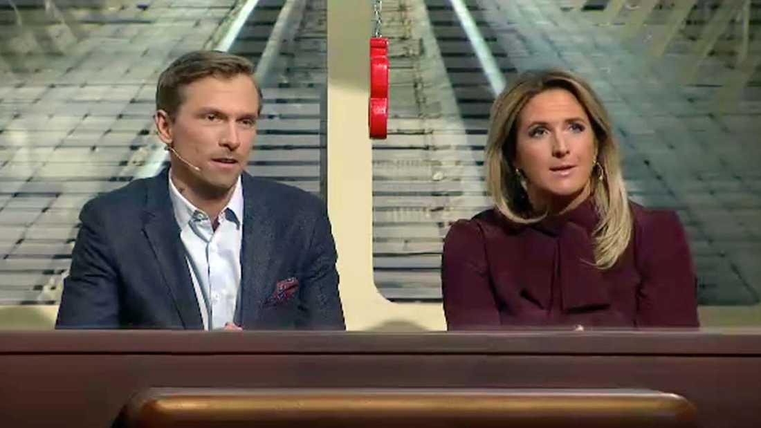 Debutanterna Johan Olsson och Denise Rudberg.