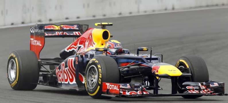 Mark Webber har pole position i säsongens 16:e F1-lopp