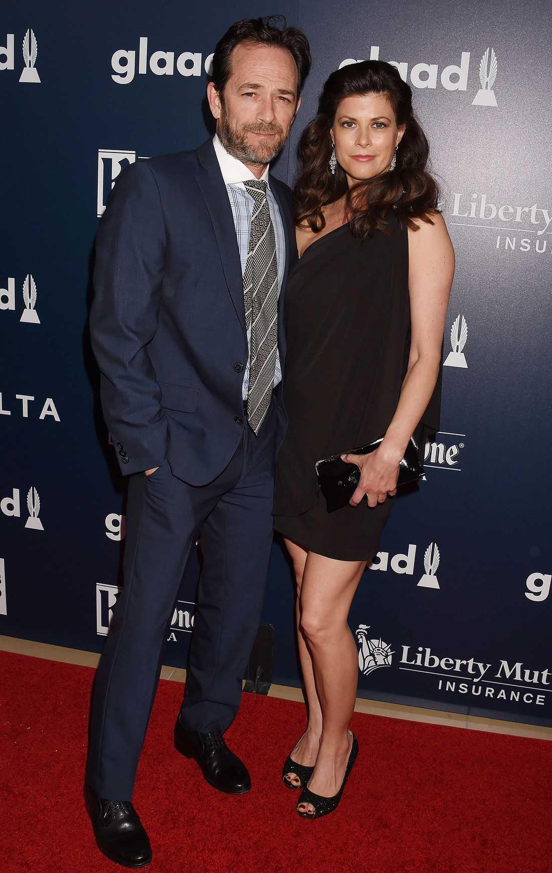 Luke Perry och fästmön Wendy Madison Bauer.