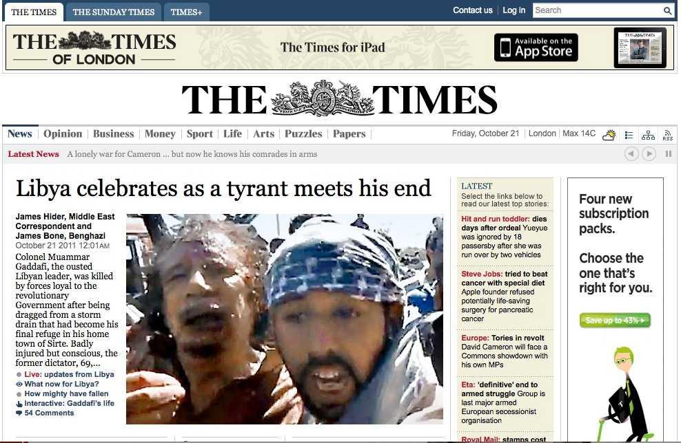 Engelska The Times.