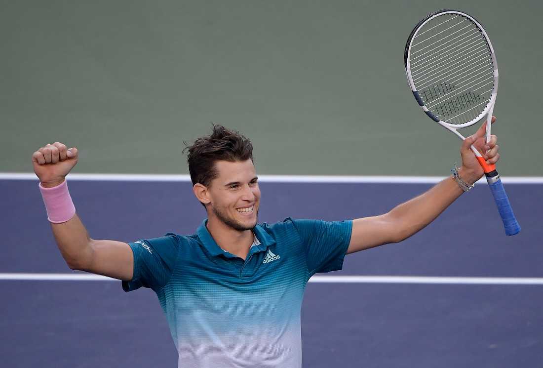 25-årige österrikaren Dominic Thiem vann finalen över Roger Federer i Indian Wells.