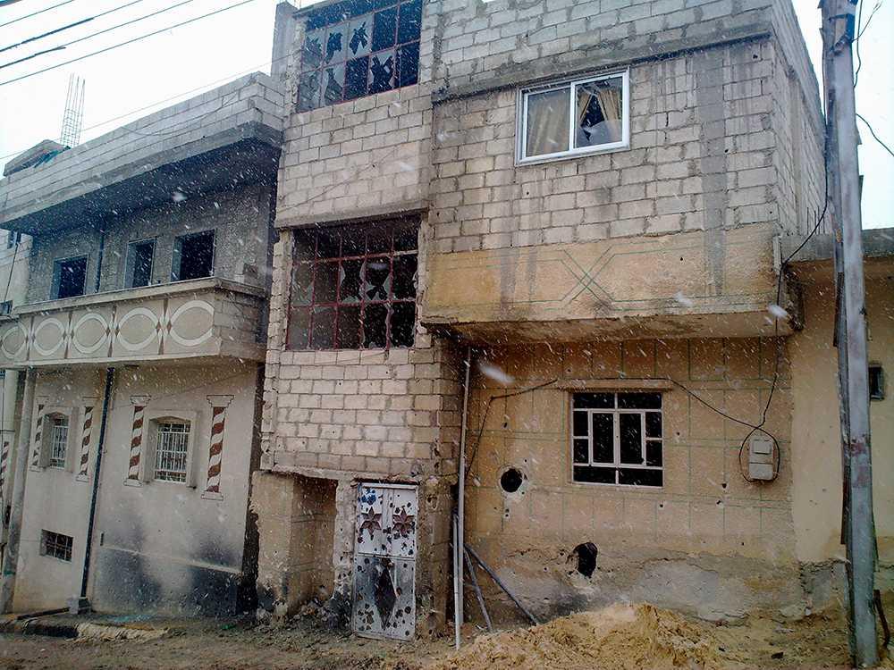 Enligt uppgift fördes journalisterna till ett område kring staden Rankous där bilden är tagen.