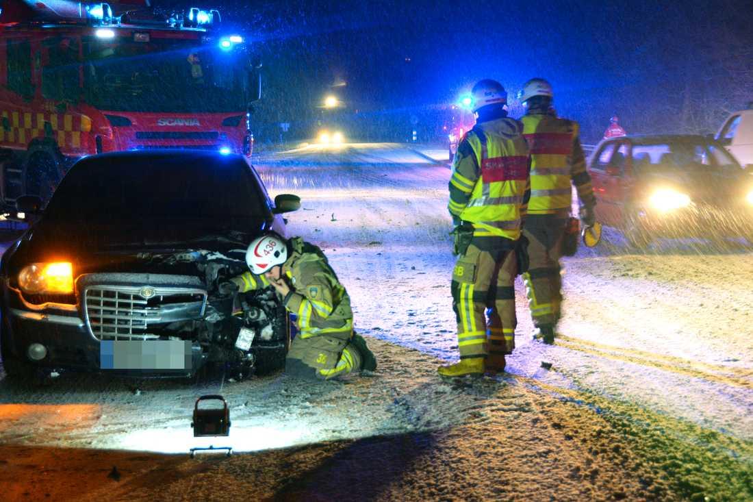 Trafikolycka i Stenungsund tidigt på onsdagsmorgonen.