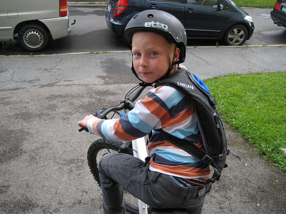 Odin har fått en cykel med 18 växlar.